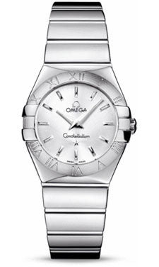 Omega,Omega - Constellation Quartz 27 mm - Polished Stainless Steel - Watch Brands Direct