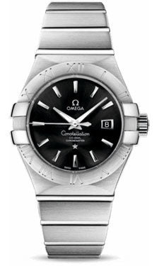 Omega,Omega - Constellation Co-Axial 31 mm - Brushed Stainless Steel - Watch Brands Direct
