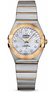 Omega,Omega - Constellation Co-Axial 27 mm - Brushed Steel and Yellow Gold - Watch Brands Direct