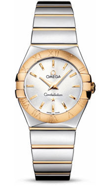 Omega,Omega - Constellation Quartz 27 mm - Polished Steel and Yellow Gold - Watch Brands Direct