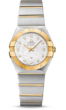 Omega,Omega - Constellation Quartz 27 mm - Brushed Steel and Yellow Gold - Watch Brands Direct