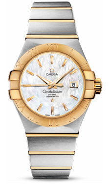 Omega,Omega - Constellation Co-Axial 31 mm - Brushed Steel and Yellow Gold - Watch Brands Direct