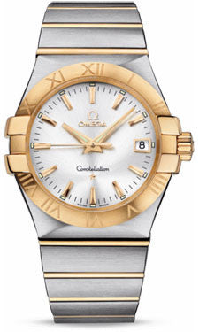 Omega,Omega - Constellation Quartz 35 mm - Brushed Steel and Yellow Gold - Watch Brands Direct