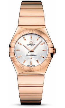 Omega,Omega - Constellation Quartz 27 mm - Polished Red Gold - Watch Brands Direct