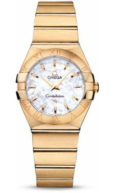 Omega,Omega - Constellation Quartz 27 mm - Brushed Yellow Gold - Watch Brands Direct