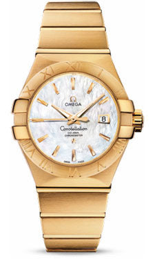 Omega,Omega - Constellation Co-Axial 31 mm - Brushed Yellow Gold - Watch Brands Direct