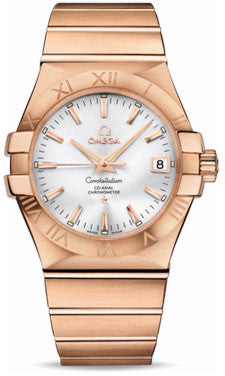 Omega,Omega - Constellation Co-Axial 35 mm - Brushed Red Gold - Watch Brands Direct