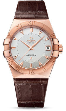 Omega,Omega - Constellation Co-Axial 38 mm - Sedna Gold - Watch Brands Direct