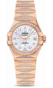 Omega,Omega - Constellation Quartz 27 mm - Red Gold - Watch Brands Direct