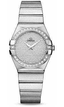 Omega,Omega - Constellation Quartz 27 mm - Brushed White Gold - Watch Brands Direct