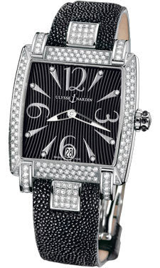 Ulysse Nardin - Caprice - Stainless Steel - Diamond Bezel - Leather Strap - Watch Brands Direct  - 1