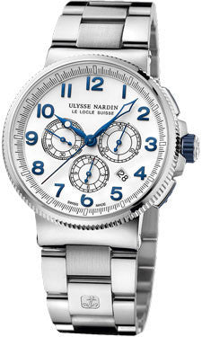 Ulysse Nardin,Ulysse Nardin - Marine Chronograph Manufacture - Stainless Steel and Titanium - Watch Brands Direct