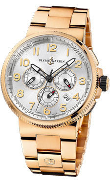 Ulysse Nardin,Ulysse Nardin - Marine Chronograph Manufacture - Rose Gold - Watch Brands Direct