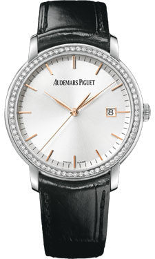 Audemars Piguet,Audemars Piguet - Jules Audemars Automatic- White Gold - Diamonds - Watch Brands Direct