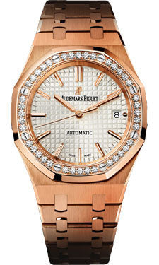Audemars Piguet,Audemars Piguet - Royal Oak Lady Self Winding 37mm - Pink Gold - Watch Brands Direct