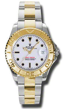 Rolex,Rolex - Yacht-Master Steel and Gold Two Tone 35mm - Watch Brands Direct
