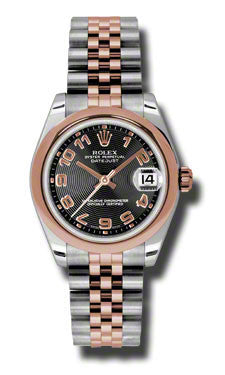 Rolex,Rolex - Datejust 31mm - Steel and Pink Gold - Domed Bezel - Watch Brands Direct