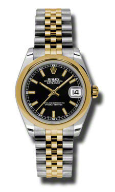 Rolex,Rolex - Datejust 31mm - Steel and Yellow Gold - Domed Bezel - Watch Brands Direct
