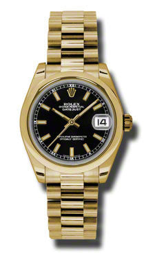 Rolex,Rolex - Datejust 31mm - Gold President Yellow Gold - Domed Bezel - Watch Brands Direct