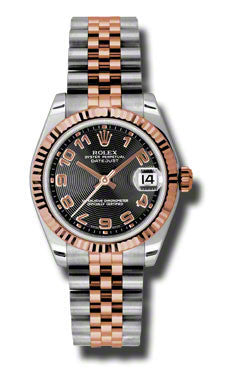 Rolex,Rolex - Datejust 31mm - Steel and Pink Gold - Fluted Bezel - Watch Brands Direct
