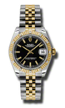 Rolex,Rolex - Datejust 31mm - Steel and Yellow Gold - 12 Diamond Bezel - Watch Brands Direct