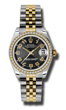 Rolex,Rolex - Datejust 31mm - Steel and Yellow Gold - 46 Diamond Bezel - Watch Brands Direct