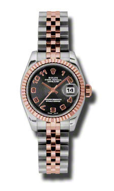 Rolex,Rolex - Datejust Lady 26 - Steel and Pink Gold - Fluted Bezel - Watch Brands Direct