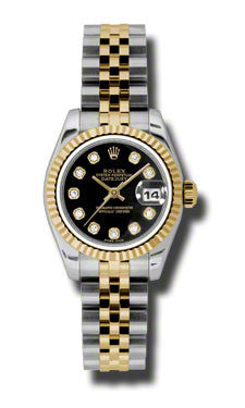 Rolex - Datejust Lady 26 - Steel and Yellow Gold - Fluted Bezel - Watch Brands Direct  - 1