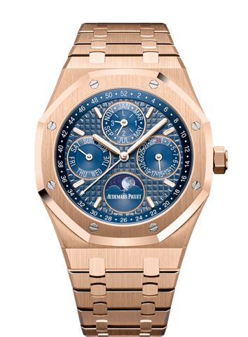 Audemars Piguet - Royal Oak Perpetual Calendar White Ceramic Pink Gold