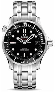 Omega,Omega - Seamaster Diver 300 M Co-Axial 36.25 mm - Stainless Steel - Watch Brands Direct