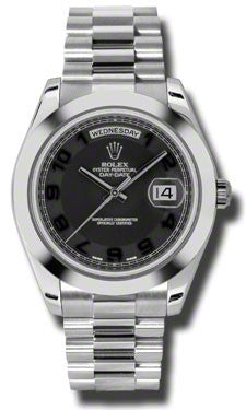 Rolex - Day-Date II President Platinum - Polished Bezel - Watch Brands Direct  - 1