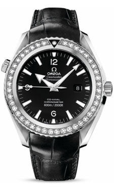 Omega,Omega - Seamaster Planet Ocean 600 M Co-Axial 45.5 mm - Stainless Steel - Leather Strap - Watch Brands Direct