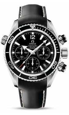 Omega,Omega - Seamaster Planet Ocean 600 M Co-Axial Chronograph 37.5 mm - Stainless Steel - Rubber Strap - Watch Brands Direct