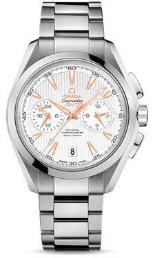 Omega,Omega - Seamaster Aqua Terra 150 M Co-Axial GMT Chronograph 43 mm - Stainless Steel - Watch Brands Direct