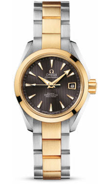 Omega,Omega - Seamaster Aqua Terra 150 M Co-Axial 30 mm - Steel And Yellow Gold - Watch Brands Direct