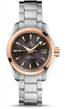Omega,Omega - Seamaster Aqua Terra 150 M Co-Axial 30 mm - Steel And Red Gold - Watch Brands Direct