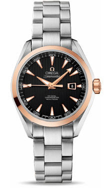 Omega,Omega - Seamaster Aqua Terra 150 M Co-Axial 34 mm - Steel And Red Gold - Watch Brands Direct