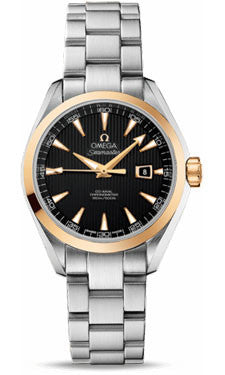 Omega,Omega - Seamaster Aqua Terra 150 M Co-Axial 34 mm - Steel and Yellow Gold - Watch Brands Direct