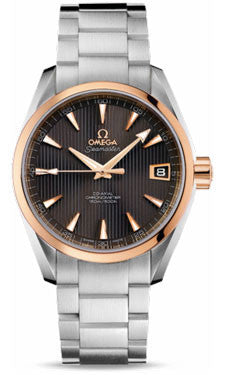 Omega,Omega - Seamaster Aqua Terra 150 M Co-Axial 38.5 mm - Steel And Red Gold - Watch Brands Direct