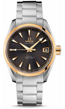 Omega,Omega - Seamaster Aqua Terra 150 M Co-Axial 38.5 mm - Steel And Yellow Gold - Watch Brands Direct