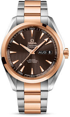 Omega,Omega - Seamaster Aqua Terra 150 M Co-Axial Annual Calendar 43 mm - Stainless Steel and Red Gold - Watch Brands Direct