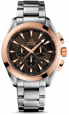 Omega,Omega - Seamaster Aqua Terra 150 M Co-Axial Chronograph 44 mm - Stainless Steel and Red Gold - Watch Brands Direct