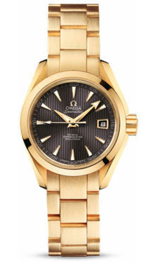 Omega,Omega - Seamaster Aqua Terra 150 M Co-Axial 30 mm - Yellow Gold - Watch Brands Direct