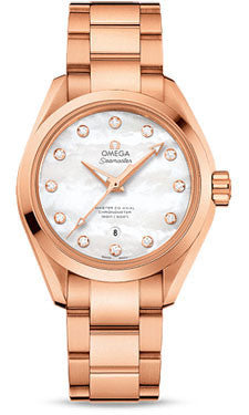 Omega,Omega - Seamaster Aqua Terra 150 M Master Co-Axial 34 mm - Sedna Gold - Watch Brands Direct