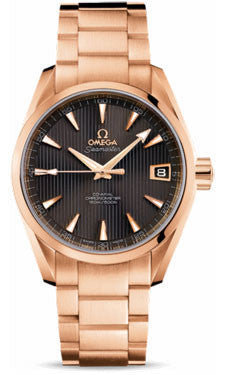 Omega,Omega - Seamaster Aqua Terra 150 M Co-Axial 38.5 mm - Red Gold - Watch Brands Direct