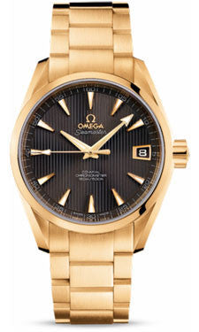 Omega,Omega - Seamaster Aqua Terra 150 M Co-Axial 38.5 mm - Yellow Gold - Watch Brands Direct