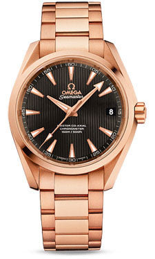 Omega,Omega - Seamaster Aqua Terra 150 M Master Co-Axial 38.5 mm - Red Gold - Watch Brands Direct