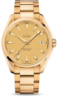 Omega,Omega - Seamaster Aqua Terra 150 M Master Co-Axial 41.5 mm - Yellow Gold - Watch Brands Direct