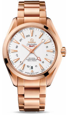 Omega,Omega - Seamaster Aqua Terra 150 M Co-Axial GMT 43 mm - Red Gold - Watch Brands Direct