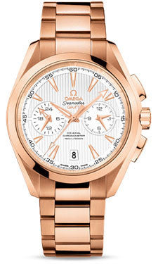Omega,Omega - Seamaster Aqua Terra 150 M Co-Axial GMT Chronograph 43 mm - Red Gold - Watch Brands Direct